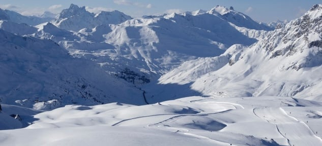 Winteraction in  Lech am Arlberg